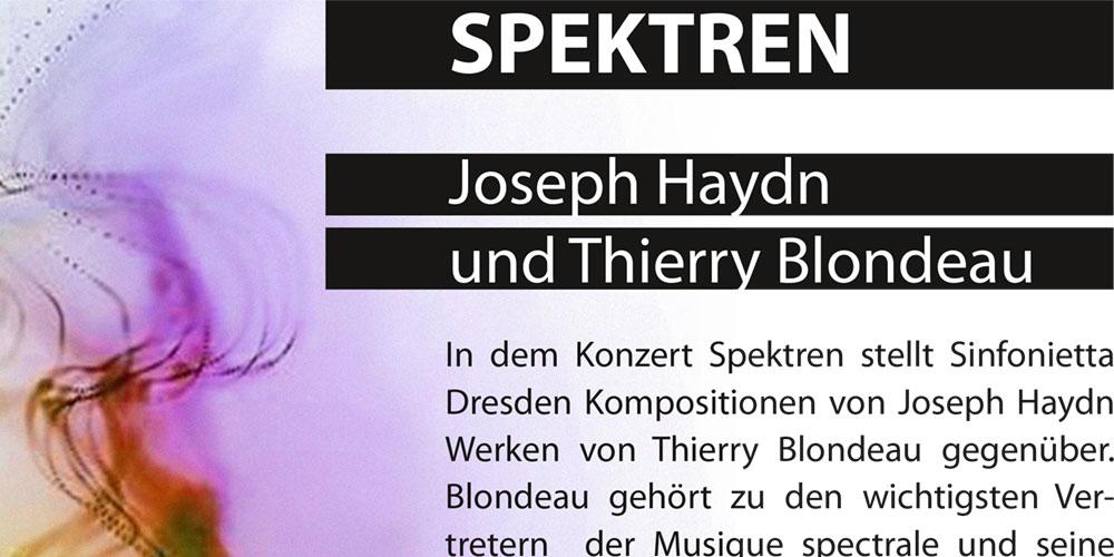Konzerte Sinfonietta Dresden – Werbegrafik und Programmhefte